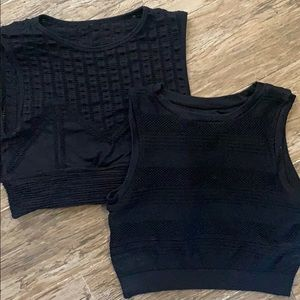 Lot of 2 XS Fabletics crop tops